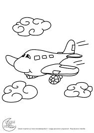 Dessin De Coloriage Avion Imprimer Cp02385