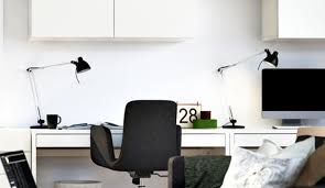 black and white office design. Heavenly White Home Office Lighting Picture At Set Black And Design