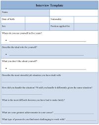 sample meeting schedule interview agenda template