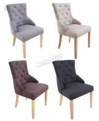 ebay dining chairs for sale. foxhunter new linen fabric dining chairs scoop tufted back office lounge dcf04 ebay for sale e