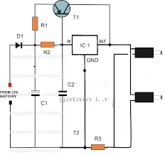 dc double cellphone charger circuit electronic circuit projects dc double cell phone charger circuit