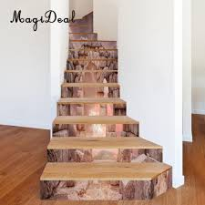 Stairway Wallpaper Design Best Promo A2b7 13pcs 3d Diy Tile Stairs Stickers