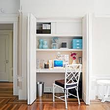 office in a closet design. Office Closet Desk And Organization! In A Design