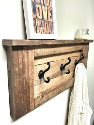 wall hooks with shelf wooden wall hook rack rustic contemporary functional wooden rack hooks this stunning