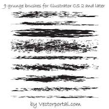 Grunge Brushes Pack For Illustrator Free Vector Image In Ai And