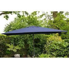 rectangle garden parasol umbrella blue