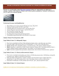 Orthopedic Doctor Sample Resume Resume Profile Samples Cover