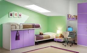Modern Kid Bedroom Green Purple Kid Bedroom Color Combination Ideas With Closet Under