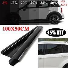 50*100cm <b>Car</b> Home/Office Glass Window <b>Black</b> Tint Film <b>Sunshade</b> ...