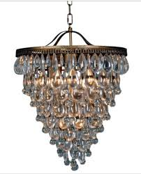 iron and glass chandelier
