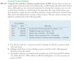 Personal Finance Model Solved Personal Finance Problem P7 17 Using The Free Cash