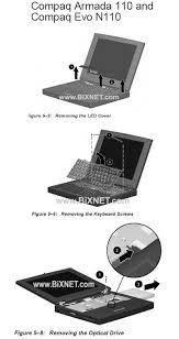 compaq armada 110 evo n110 optical drive installation