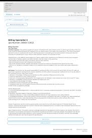 Personnel Specialist Job Description Billing Specialist Ii Job At Hca Holdings Inc In Denver Co