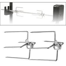 2PCS Barbecue <b>Fork</b>, <b>Multifunctional Stainless Steel</b> Spit <b>Fork</b> ...