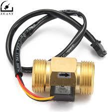 "<b>Flow Sensor G3</b>/<b>4</b>"" DN20 Copper Hall Effect Liquid <b>Water</b> Flow ..."