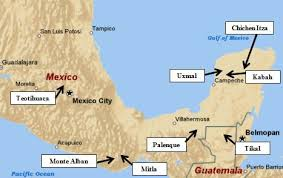 famous historic buildings & archaeological sites in guatemala Mayan Cities Map famous historic buildings & archaeological sites in guatemala ? maya city of tikel mayan city map