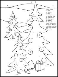 Christmas Color By Number Coloring Pages Getcoloringpagescom