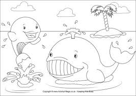 Small Picture Whales Colouring Page