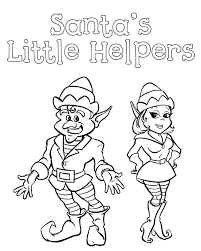 Christmas Elves Santa Little Helpers Coloring