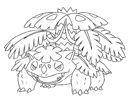Pokemon Coloring Pages Mega Venusaur From The Thousands Of