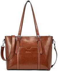 BOSTANTEN Women Leather Laptop Tote Office Shoulder <b>Handbag</b>