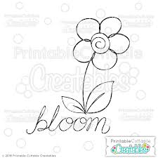 Cut the petals from the free template. Doodle Bloom Flower Free Svg Sketch File Draw With Silhouette Cricut