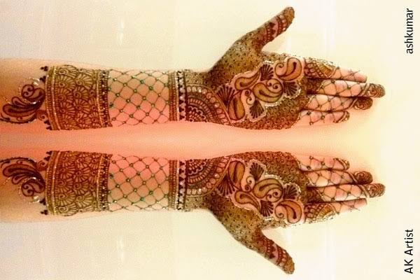 dulhan mehndi designs for hands 2014