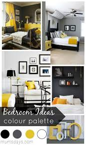 black and yellow bedroom ideas with