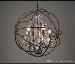 metal and crystal chandelier rh industrial lighting restoration hardware vintage