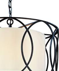 Sausalito 5 Light Pendant Troy Lighting Sausalito 5 Light Pendant Deep Bronze Finish With Hardback Linen Shade