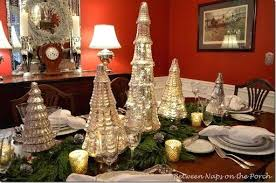 mercury glass trees a mercury glass tree table setting mercury glass bead tree garland