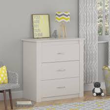 Dresser With Cabinet Cosco Riley 3 Drawer Dresser White Walmartcom