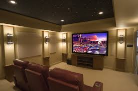 Small Picture Gray Wall In Home Theatre Alluring Home Theatre Designs Home
