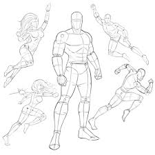 here is my superhero pose pack i will continue to add new poses each month as i create my stus drawing poses superhero reference action