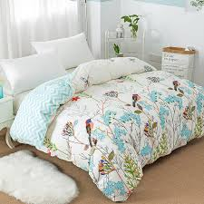2019 new flower birds pattern duvet cover with zipper 100 cotton quilt cover soft comforter twin full queen king from lireen 34 34 dhgate com