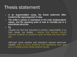 argumentative essay ppt thesis statement in an argumentative essay the thesis statement often mentions the opposing point of