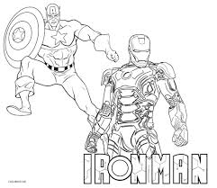 Small Picture Iron Man Coloring Pages Ironman And Captain America At diaetme