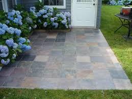 slate tile over concrete patio patio