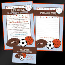 Baby Shower Invitations For A Sports Themed Baby Shower Sports Baby Shower Invitations Sports Theme
