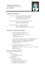 Job Resume For College Students Format Best Collection Regarding