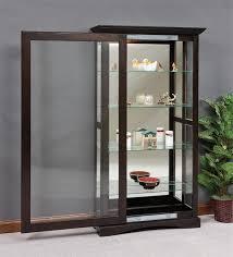 glass curio display cabinet mission sliding door curio cabinet