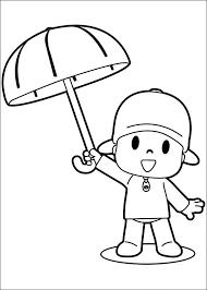 Small Picture Pocoyo con un globo Dibujos para colorear