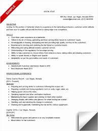 Free Bartender Resume Template Beautiful Bartender Resume