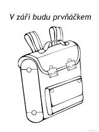 Backpack Coloring Page For Kids Back
