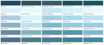 Yolo Paint Color Chart Turquoise Green Paint Martinique