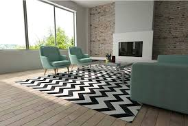 black and white chevron patchwork cowhide rug in sunny living room nz design no patchwork cowhide rug