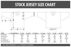 Jersey Sizing Chart Hockeytron Com