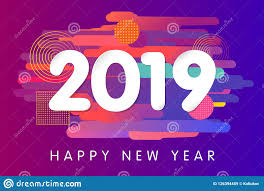 2019 Happy New Year Card Design Stock Vector - Illustration of ...
