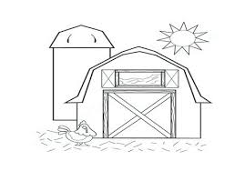 Red Barn Coloring Pages Gamecornerinfo