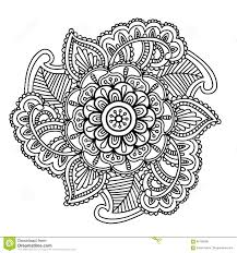 Immagine Di Vettore Per Lillustrazione Adulta Di Mandala Doodle Del